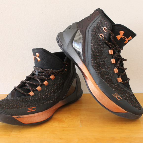 Under Armour Curry 3 Copper Black Size